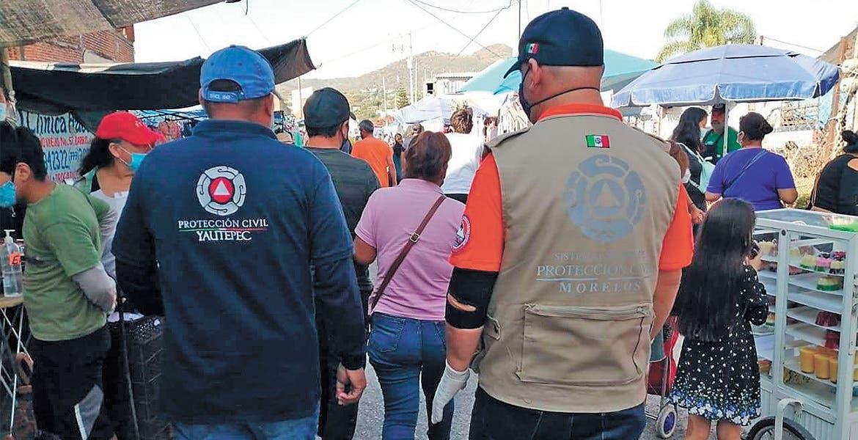 Realizan operativo en tianguis de La Huizachera, Jiutepec