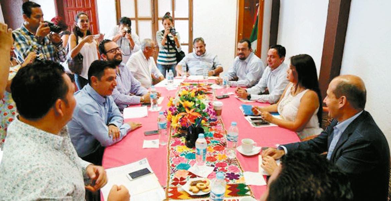 Previo. Los coordinadores de los grupos parlamentarios se reunieron ayer para abordar los temas de las comparecencias y recibir información de estado financiero de Cuernavaca.