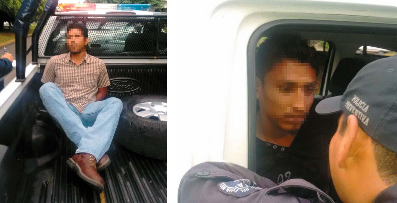 Dos sujetos fueron detenidos ayer por policías en Teopanzolco y Río Mayo