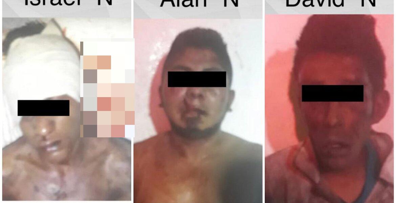Identifican a 3 sujetos, a punto de morir linchados, que asaltaron ruta en Jiutepec