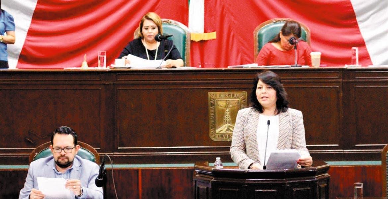 Exhorto. La diputada Norma Alicia Popoca dijo que muchas dependencias o municipios no hacen las aportaciones de sus trabajadores.