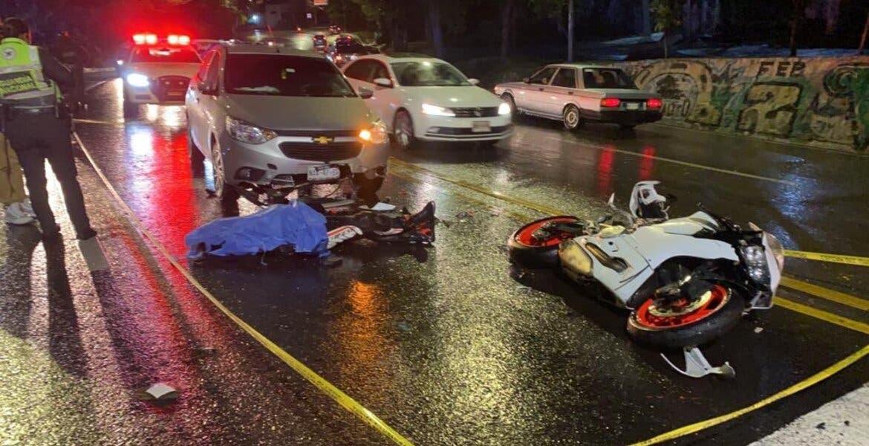 Muere motociclista tras accidentarse en la carretera federal México-Cuernavaca