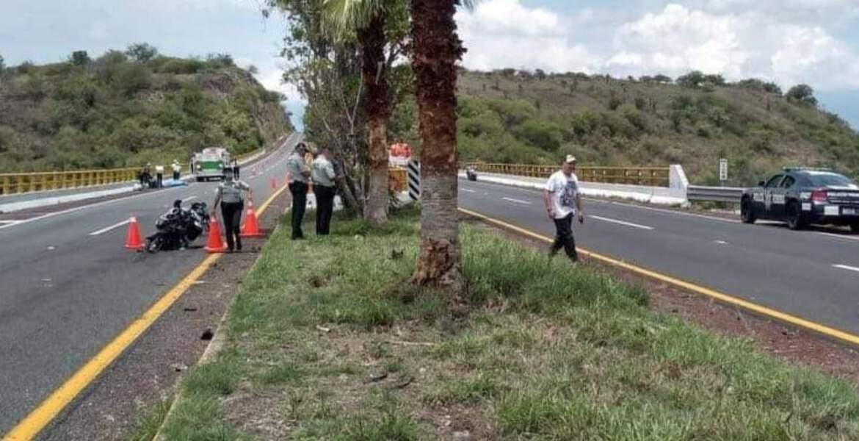 Se mata motociclista por ir a exceso de velocidad en la Cuernavaca-Acapulco