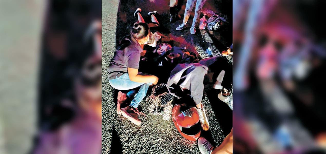 Lesionado resultó motociclista atropellado en la carretera a Tepoztlán