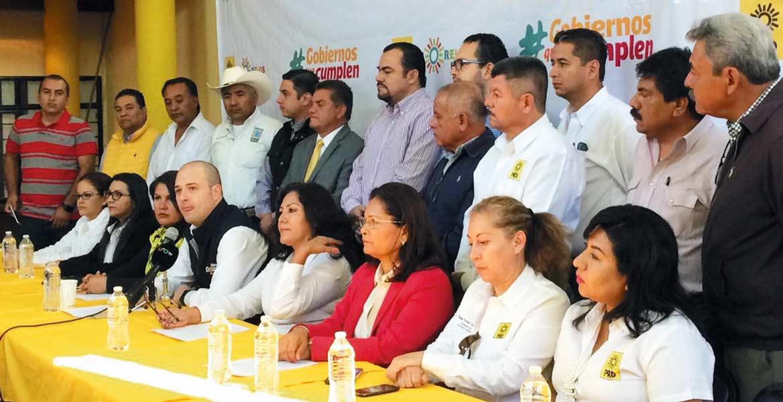 Postura. La dirigencia del PRD rechazó los actos vandálicos que se han presentado en otros estados y dijo que sólo se manifestarán con protestas pacíficas.
