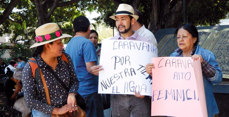 Movimiento. La caravana indígena pasará por Morelos para exigir la regularización de las tierras en sus estados.
