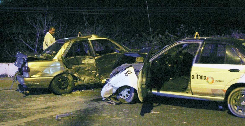 Deceso. Guadalupe quedó sin vida en el asiento del copiloto, luego de que el auto en donde viajaba terminara destrozado al ser impactado por un taxi en Xochitepec