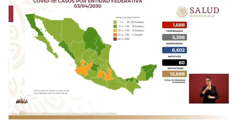 Crece cifra de muertes por coronavirus en México