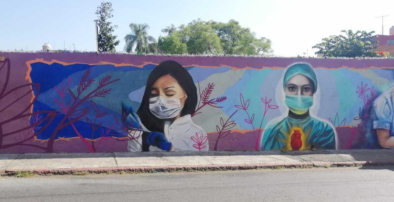 Inauguran en Cuernavaca mural dedicado a los médicos