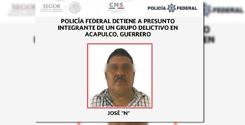 Detención. La Policía Federal difundió la fotografía del sujeto detenido, que operaba en municipios del estado de Guerrero.