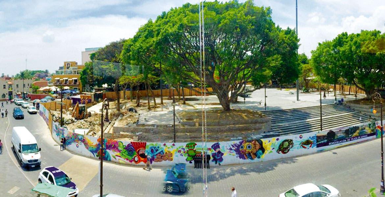 Atractivo. Una de las obras más destacadas es la rehabilitación de la Plaza de Armas, que lleva más del 50 por ciento de avance.