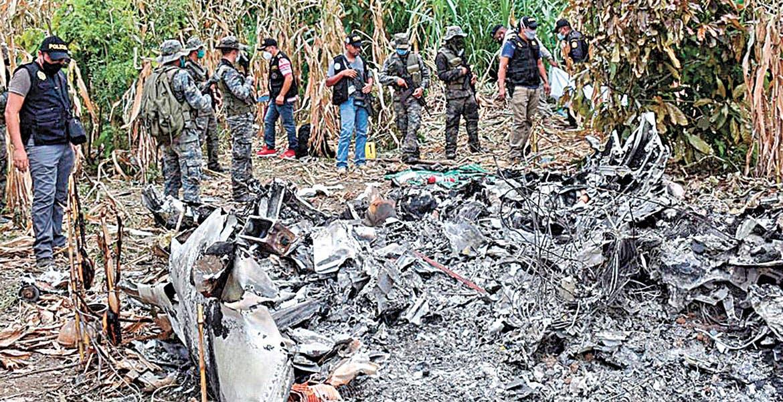 Espera Gobierno confirmación de que jet accidentado en Guatemala sea el robado en Morelos