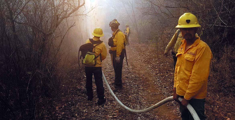 Recientes. El sábado quedaron liquidados los incendios del monasterio de Sta. María y el ubicado al Este de Coajomulco