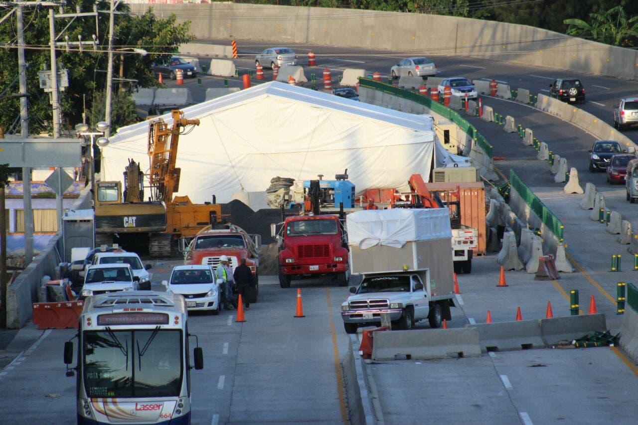 SCT corrige: tránsito en Paso Exprés, suspendido para todos los vehículos