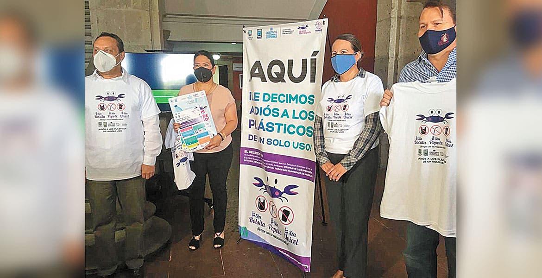Arrancan campaña contra plástico de un solo uso en Morelos