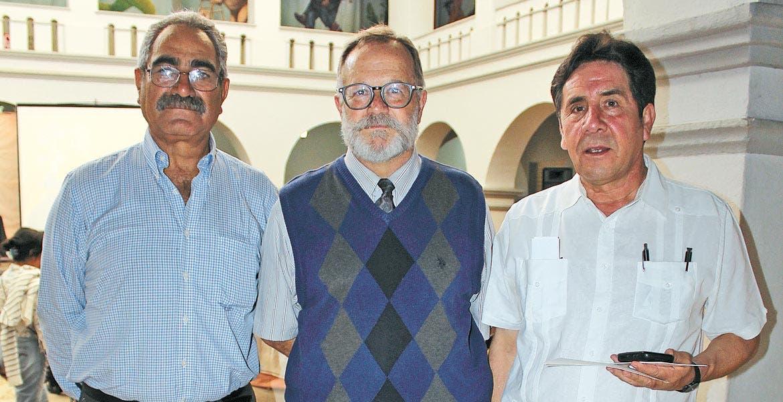 Antonio Guerrero, Salvador Rueda y Víctor Hugo Valencia.