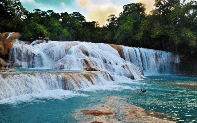 Recuperan Cascadas de Agua Azul en Chiapas