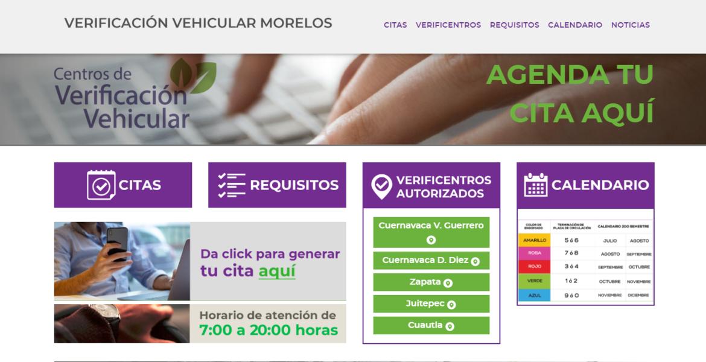Listo desde hoy portal para citas de verificación vehicular en Morelos