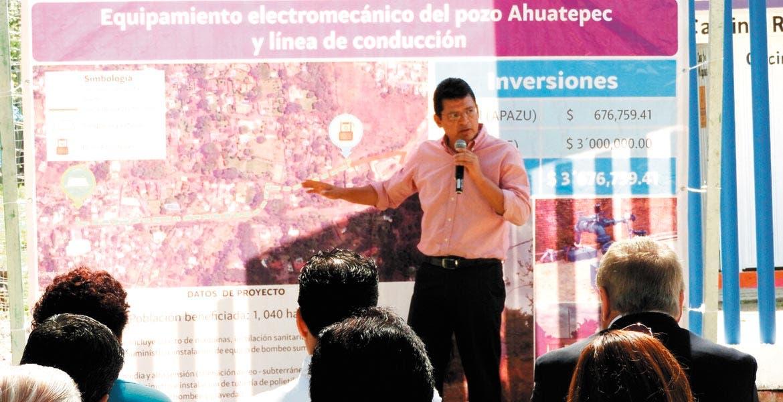 Abaten rezago. El secretario ejecutivo de la Ceagua explicó los trabajos realizados para garantizar el abasto a los pobladores de Ahuatepec.