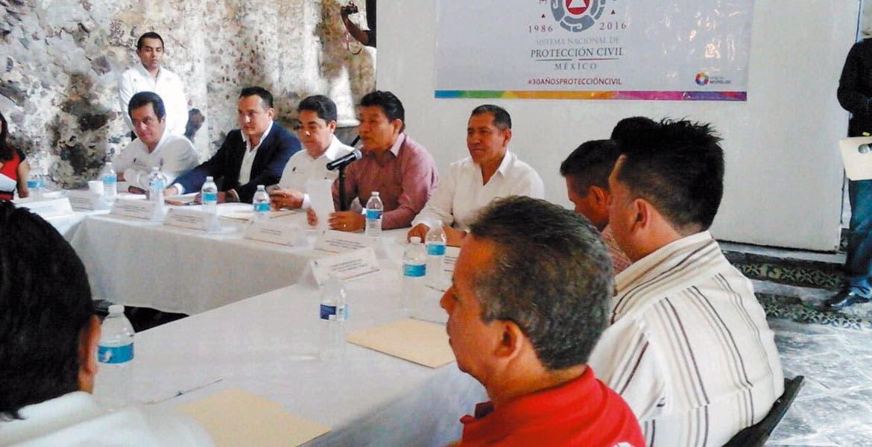 Evento. Ayer celebraron la primera reunión de la Coordinación Estatal de Protección Civil y las direcciones municipales.