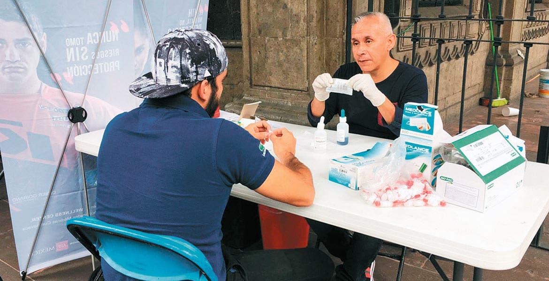 Realizan jornada de pruebas de detección de VIH en Veracruz