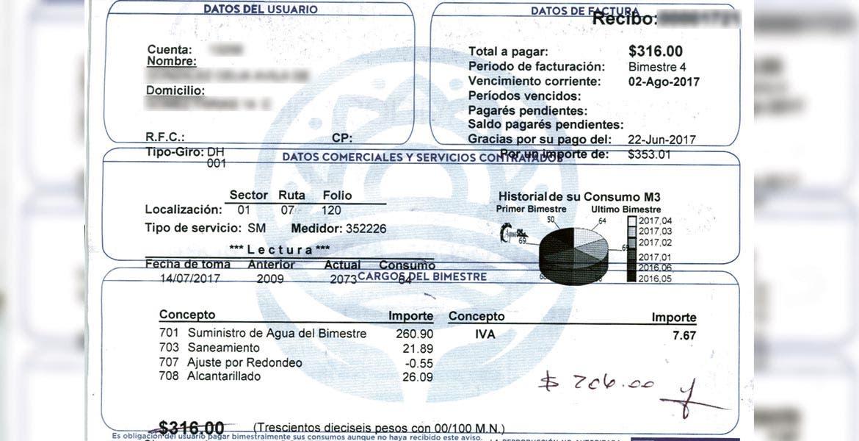 Tras una denuncia ciudadana, que registró una variación en el cobro del servicio de agua, se detectó que el Sistema de Agua Potable y Alcantarillado de Cuernavaca (SAPAC) calcula el costo bimestral sin aplicar una lectura en los medidores