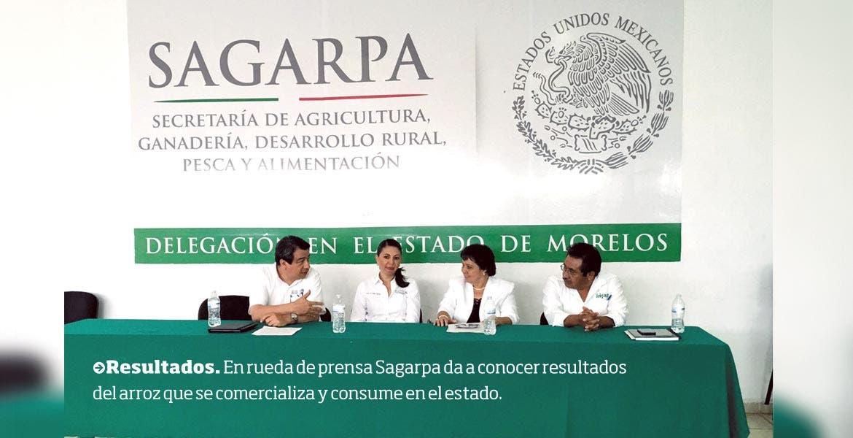 Resultados. En rueda de prensa Sagarpa da a conocer resultados del arroz que se comercializa y consume en el estado.