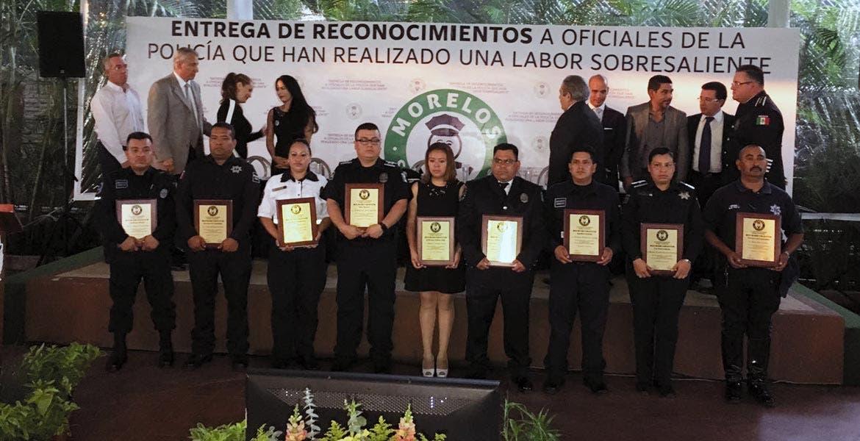 Premio. Los policías galardonados han realizado una labor sobresaliente en el día a día, de acuerdo con la asociación Morelos Seguro Contigo, que llamó a la ciudadanía a sumarse a los trabajos de seguridad
