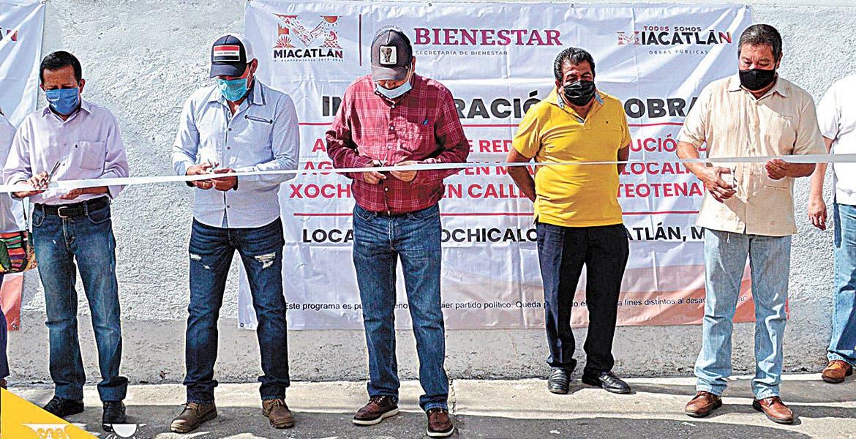 Inauguran red de agua potable en Miacatlán