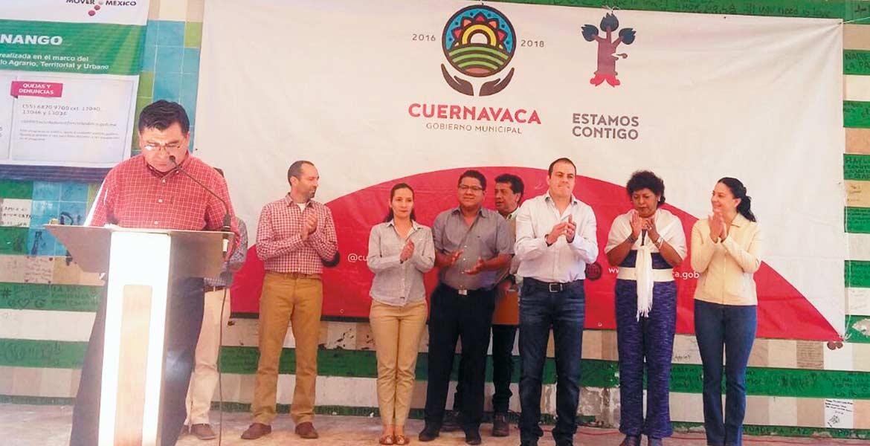 Anuncio. El alcalde Cuauhtémoc Blanco Bravo aseguró que en 7 años, este lugar había sido ignorado por las autoridades municipales, pero es hora de recuperar espacios a favor de la sociedad, añadió.
