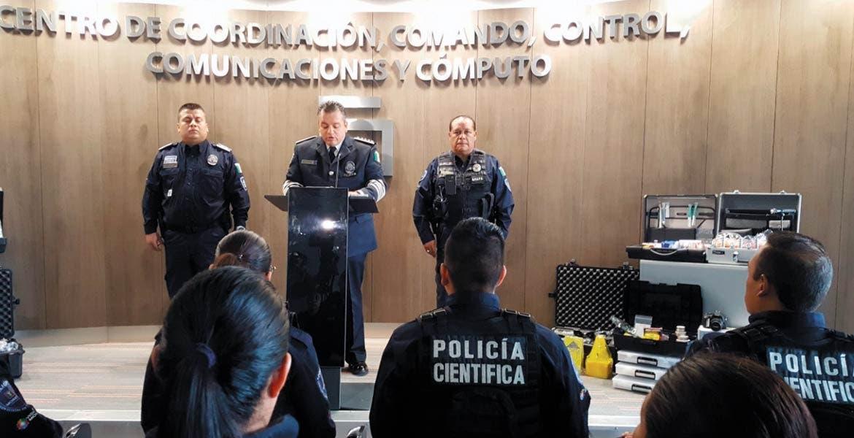 Informan. Durante la presentación del grupo especializado de la Escena de los Hechos Delictivos, el comisionado de seguridad confirmó la liberación de dos secuestrados.