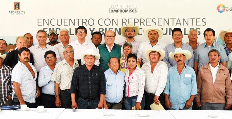 Productivos. El Gobernador Graco Ramírez se reunió con con 28 presidentes de comisariados ejidales y bienes comunales de Cuautla, Yautepec y Tlaltizapán
