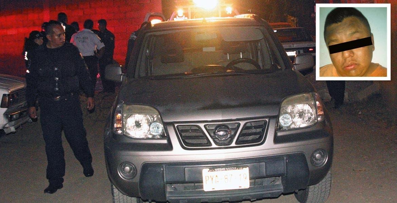 Detenido. Andrés Manzanares fue quien se robó la camioneta X-Trail.
