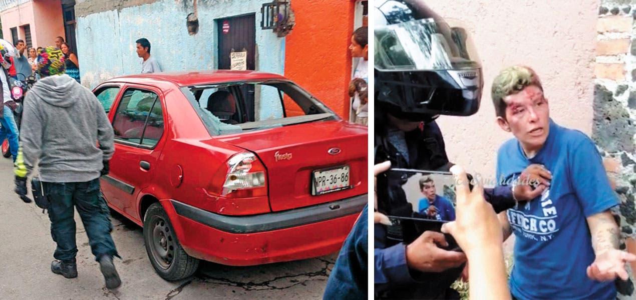 Roba mujer tienda, huye y arrolla a menor en Jiutepec