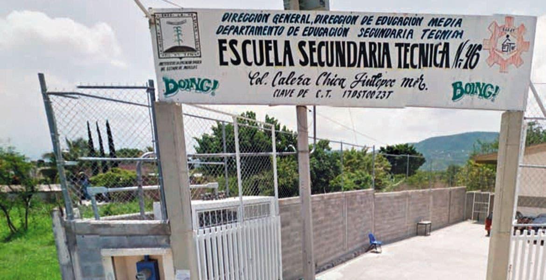 Pantallas y cajas de jugos fueron robados de la Secundaria Técnica número 46, ubicada en la calle Magnolia, de la colonia Calera Chica, de Jiutepec