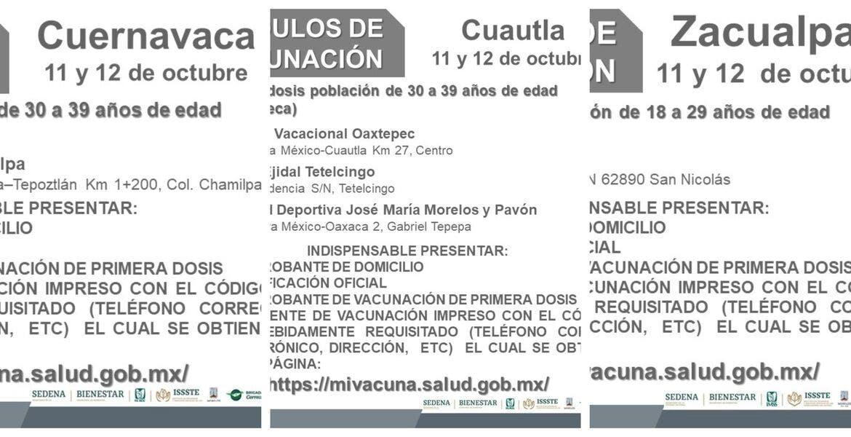 Aplicarán en Cuernavaca, Cuautla y Zacua...