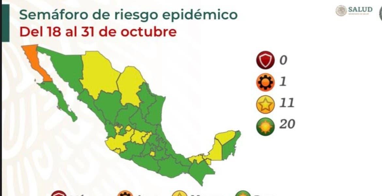Morelos se queda en amarillo; ya hay 20...