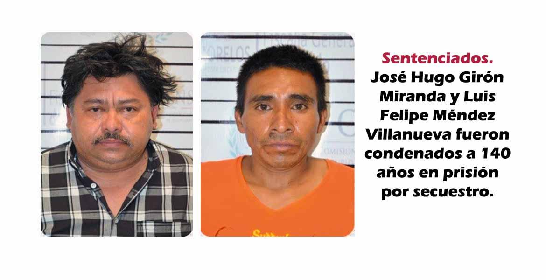 Sentenciados. José Hugo Girón Miranda y Luis Felipe Méndez Villanueva fueron condenados a 140 años en prisión por secuestro.