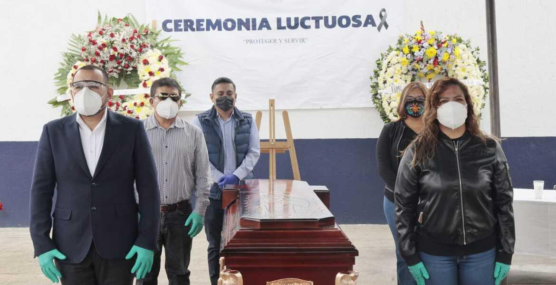 Dan último adiós a policía asesinado a balazos en Yautepec