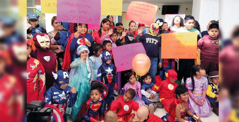 Su día. Ayer, en el Hospital del Niño y el Adolescente Morelense conmemoraron el Día Internacional de la Lucha contra el Cáncer, y el ambiente fue de fiesta entre los pequeños que luchan por su vida ante esta enfermedad.