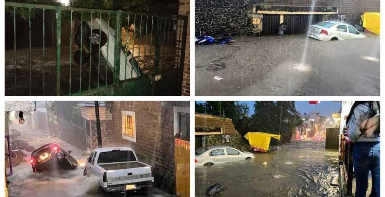 Azota lluvia a Tepoztlán; inundaciones dejan un muerto
