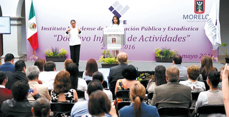 Informe. En el Museo de la Ciudad, Mireya Arteaga, presidenta del IMIPE, informó los avances en materia de transparencia y rendición de cuentas.