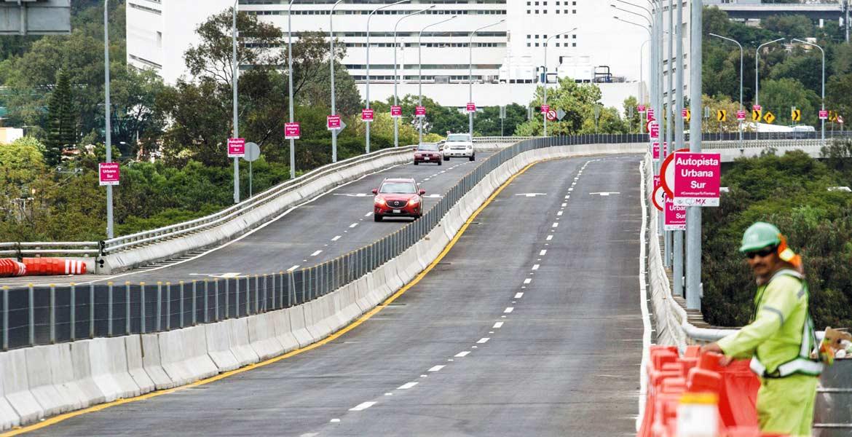 Obra. La autopista urbana sur reducirá el traslado de automovilistas hacia la salida a Cuernavaca y viceversa, con el beneficio implícito para Morelos.