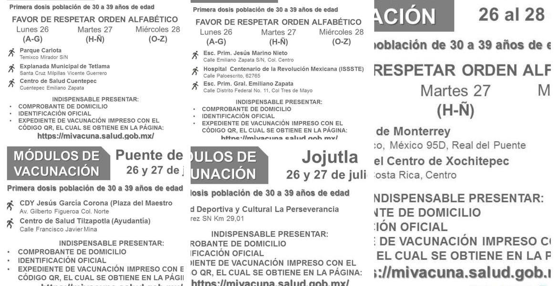 Vacunación de 30 a 39 años en Puente de...