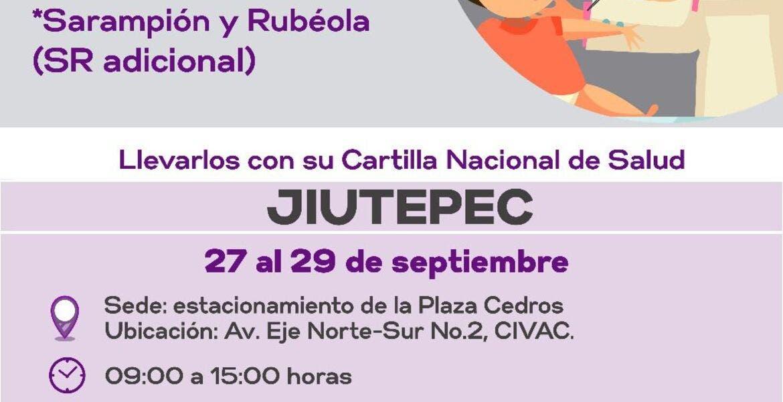 Vacunarán vs sarampión y rubeola a niños de Jiutepec