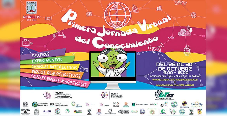 Anuncian la Jornada Virtual del Conocimiento en Morelos