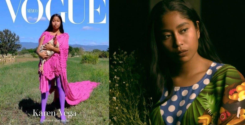 Karen Vega, la modelo oaxaqueña que es portada de Vogue México