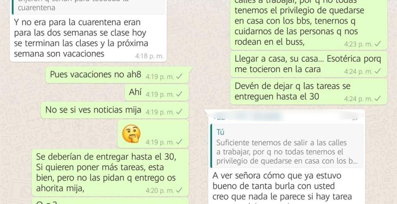 "En Jiutepec pelean padres en ""whatss"" por tareas"