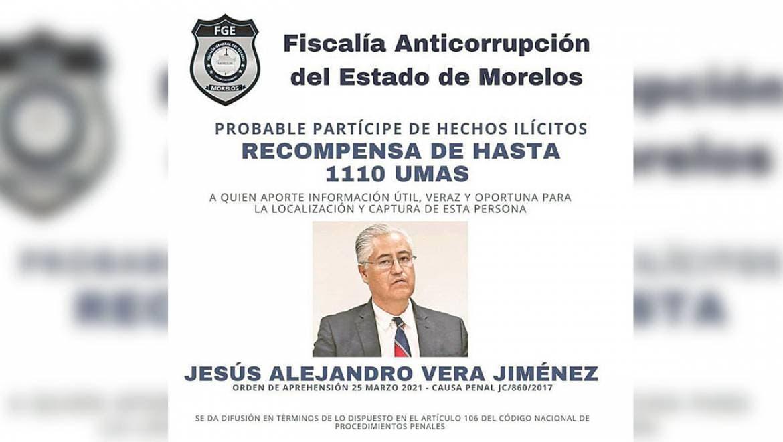 Ofrecen en Morelos recompensa para localizar al ex rector de UAEM Alejandro Vera