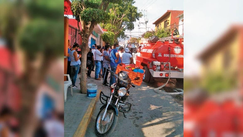 Arde tortillería en Cuernavaca